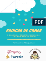eBook BRINCAR de COMER Para Crianças de 1 a 3 Anos 1