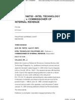 Intel Technology Philippines Inc. v. CIR (2007)