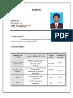 kesavan NEW resume with project
