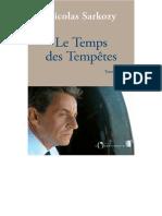 EBOOK Nicolas Sarkozy - Le temps des tempetes