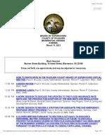 Fauquier Supervisors Agenda 23 9 2021