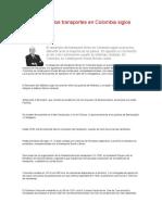 Desarrollo de los transportes en Colombia siglos XIX y XX