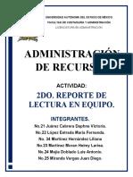 2DO. REPORTE DE LECTURA EN EQUIPO.
