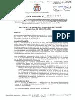Resolución Municipal de Restitución