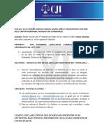 Model Designacion de Casillero
