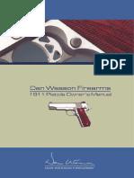 Dan Wesson CZ 1911 Owners Manual