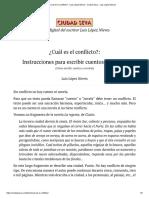 3 - ¿Cuál es el conflicto_ - Luis López Nieves
