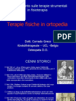 Terapie Fisiche in Ortopedia (Dott. Corrado Greco)