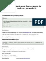 le-theoreme-de-gauss-cours-de-maths-en-terminale-s