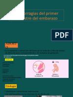 Hemorragias del primer trimestre del embarazo