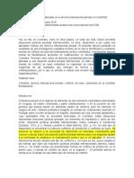 La Elección Del Derecho Aplicable en El Derecho Internacional Privado en Colombia