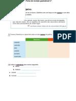 Ficha de revisao gramatical
