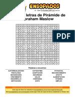 SOPA DE LETRAS PIRAMIDE ABRAHAM MASLOW