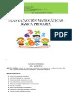 Plan de Acción Matemáticas Primaria - Ramon Angulo