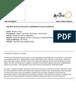 Interface Entre Les Structures Métalliques Et Leurs Fondations