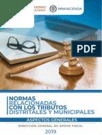 Tributos Distritales y Municipales
