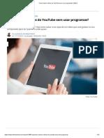 Como baixar vídeos do YouTube sem usar programas_ (2021)