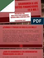 7.1.9) GRAVAMEN A LOS MOVIMIENTOS FINANCIEROS (4 X