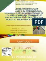 LOS JUEGOS TRADICIONALES  PRESENTACION