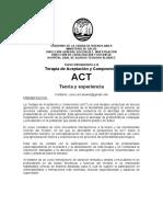 Curso ACT Hospital Álvarez - Programa, Cronograma, Bibliografía