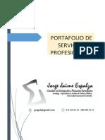 Coaching y Marketing Político Portafolio de Servicios Jorrge Jaime Espalza