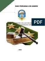 Comentario Constitucionalidad Del Fuero Militar