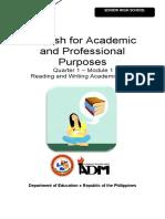 EAPP11 Module 1