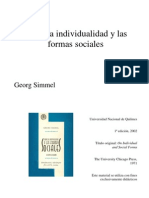 Georg Simmel - Sobre La Individualidad y Las Formas Sociales