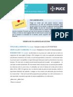 Ejemplo de una miniguía de estudio aplicando la TDDM