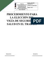Sst-prsv-001 Procedimiento de La Selección Del Vigia
