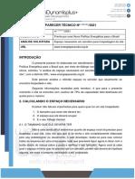 Laudo Técnico Para o Site www.energiaparavida.org.br