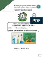 SILABO QUÍM ORGÁ AMB 2021-ING ALFONZO DIAZ GUZMAN/QUIMICA ORGANICA INGENIERIA AMBIENTAL
