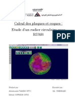 Etude d'un radier circulaire avec RDM6