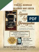 R' Reisman's Motzei Shabbos Navi Shiur Siyum Sefer Yirmiyahu