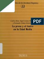 Alvar, Carlos - La Prosa y El Teatro en La Edad Media