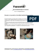 Receptenhondenkoekjesentaarten