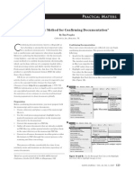 An electronic method for confirming documentation