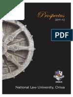 NLUO Prospectus 2011 12