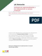 Teksty Teoria Literatury Krytyka Interpretacja-r1980-T-n3 (51)-s165-184 Nietzsche