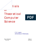 Essentials of Theoretical Computer Science - F. D. Lewis