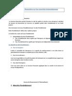 La structure financière sur les marchés internationaux