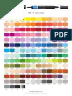 Promarker Colour Chart 2019