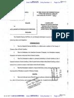 MCWHITE v. ACE AMERICAN INSURANCE COMPANY Complaint