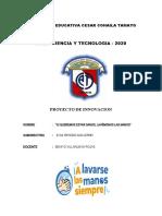 2020 PROYECTO DE INNOVACION