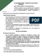 NOCIONES BASICAS QUE DEBE SABER Y CUMPLIR UN AUXILIAR DE FARMACIA