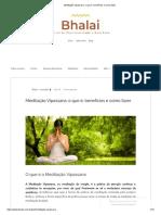 Meditação Vipassana_ o Que é, Benefícios e Como Fazer