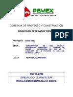 ESP-D-9250instalacion de obre