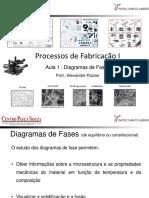 Processos de Fabricação I Aula 1 Diagrama de Fase ( I )