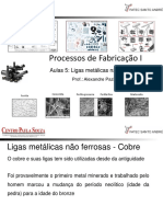 Processos de Fabricação I Aula 5 Ligas Metálicas Nao Ferrosas
