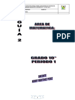 Guia # 2 1 Periodo Matematica Grado 10